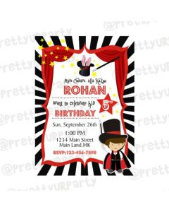 Magic Theme Invitations