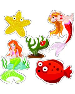 Mermaid Theme Cutouts