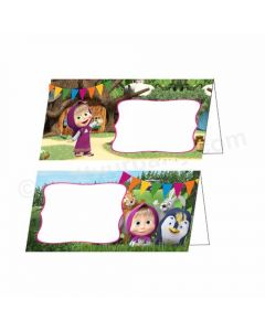 Masha and The Bear Theme Food Labels / Buffet Table Cards