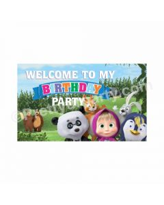 Masha and The Bear Theme Entrance Banner / Door Sign