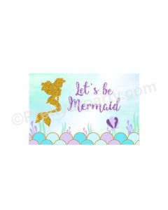 Aqua Mermaid Theme Backdrop