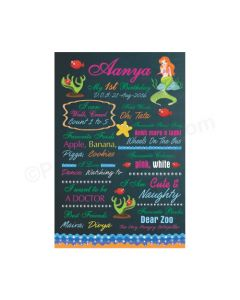 Mermaid Theme Chalkboard Poster