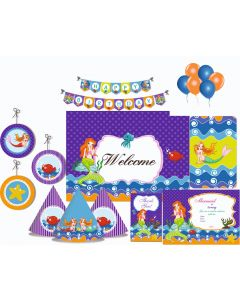 Mermaid Party Decorations - 90 Pieces