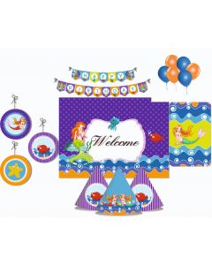 Mermaid Party Decorations Package - 70 pieces