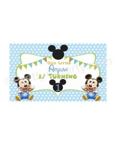 Baby Mickey Mouse 1st Birthday Theme Backdrop