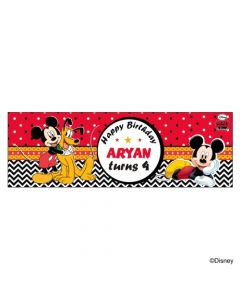 Personalized Mickey Mouse Birthday Banner 36in