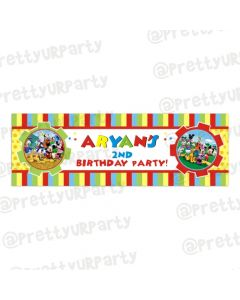 Personalized Mickey Mouse Clubhouse Birthday Banner 36in