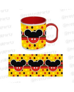 Mickey Mouse Mug with coloured insides