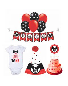 Mickey Mouse Half Birthday Decorations for Boys
