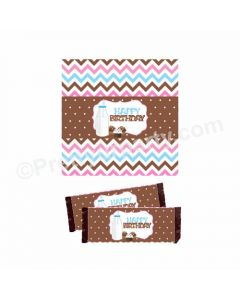 Milk and Cookies Theme Chocolate Wrappers