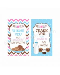 Milk and Cookies Theme Thankyou Cards