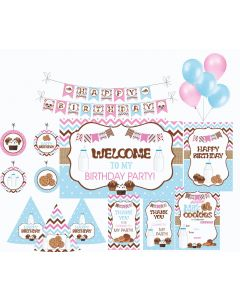 Milk and Cookies Party Decorations - 90 Pieces