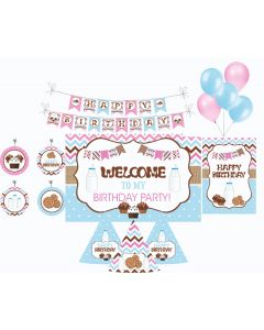 Milk and Cookies Party Decorations Package - 70 pieces