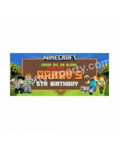 Personalized Minecraft Theme Banner 30in