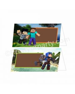Minecraft Theme Food Labels / Buffet Table Cards