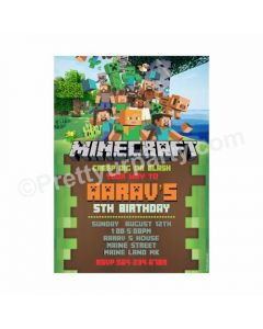 Minecraft Theme Invitations