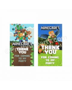 Minecraft Theme Thank you Tags