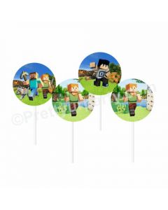 Minecraft Theme Cupcake / Food Toppers
