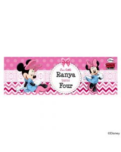 Personalized Minnie Mouse Birthday Banner 36in