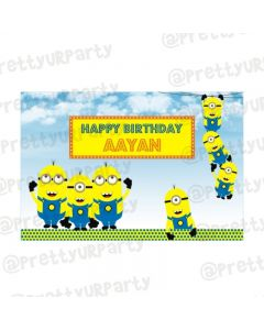 Minions Theme Backdrop