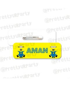 Despicable Me Minions Badge / Name Tag