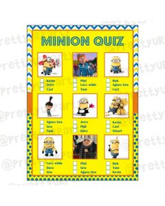 Despicable Me Minions  Picture Quiz Game