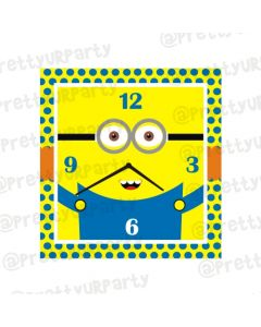 Personalised Minions Clocks