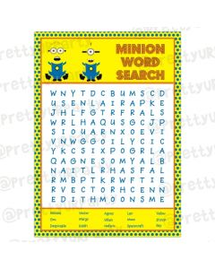 Despicable Me Minions Word Search Game
