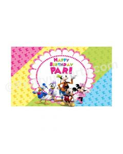 Minnie Mouse Clubhouse Theme Backdrop