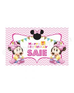 Baby Minnie Mouse 1st Birthday Theme Backdrop