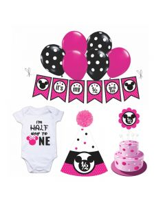 Minnie Mouse Half Birthday Decorations for Girls