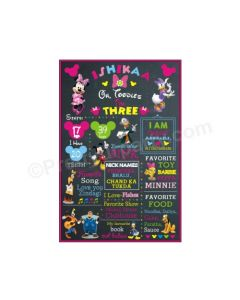 Minnie Mouse Clubhouse Chalkboard Poster