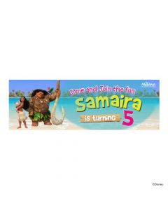 Personalized Moana Theme Banner 36in