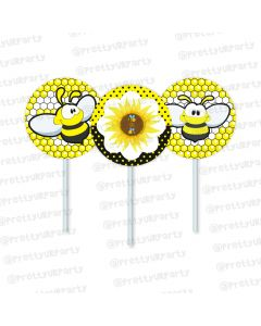 mom to bee cupcake / food toppers