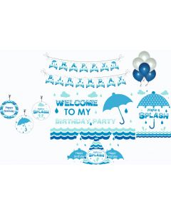 Monsoon Party Decorations Package - 70 pieces