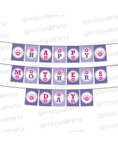 Pink and Purple Mothers Day Bunting
