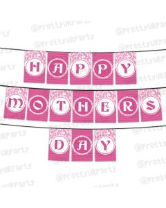 Pink Pattern Mothers Day Bunting