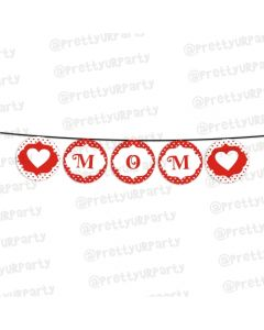 Red Polka Dots Mothers Day Bunting