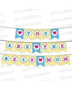 Blue and Yellow Mothers Day Bunting