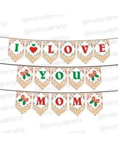 Red and Green Mothers Day Bunting