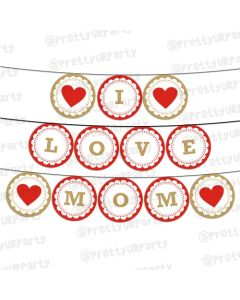 Red and Brown Mothers Day Bunting