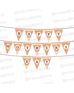 Orange Pattern Mothers Day Bunting