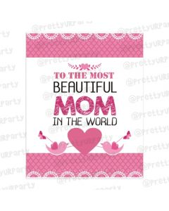 Mother's day Most Beautiful Mom Card