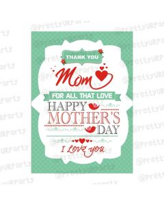 Mothers day Thank You Mom Card