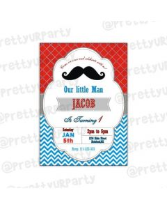 Moustache Theme E-Invitations