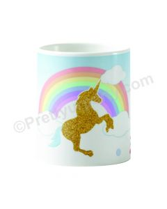 Personalised Unicorn Mug - Blue