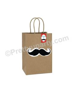 Moustache Theme Gift Bags - Pack of 10
