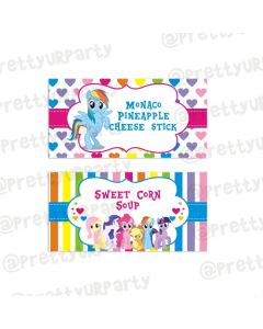 My Little Pony Food Labels