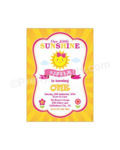 My Little Sunshine Theme E Invitations