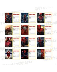 Spiderman Book Name Labels
